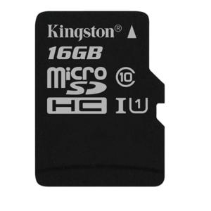 Micro SD 16GB Kingston Canvas 80R Cl10