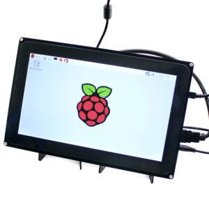 """Ekran 10.1 inča (H), HDMI, za Raspberry Pi (LCD displej 10.1""""), 1024×600, osetljiv na dodir, sa kućištem"""