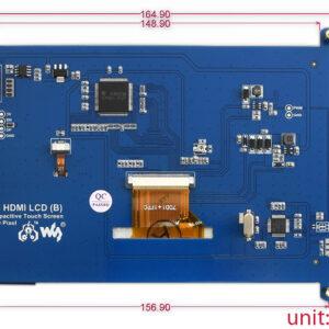 """Ekran 7 inča (B), za Raspberry Pi (LCD displej 7""""), 800×480, osetljiv na dodir"""