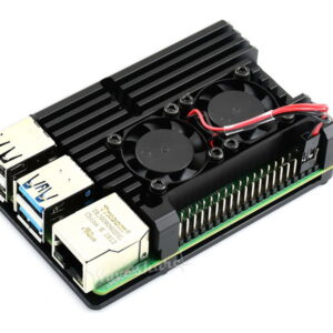 Kućište za Raspberry Pi 4, aluminijum, ventilatori