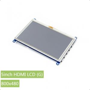 """Ekran 5 inča (G), za Raspberry Pi (LCD displej 5""""), 800×480, osetljiv na dodir"""