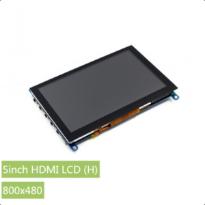 """Ekran 5 inča (H), HDMI, za Raspberry Pi (LCD displej 5""""), 800×480, osetljiv na dodir"""