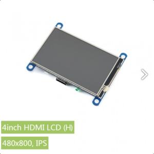 """Ekran 4 inča (H), HDMI, za Raspberry Pi (LCD displej 4""""), 800×480, osetljiv na dodir"""
