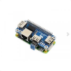 Raspberry Pi HAT, Ethernet / USB HUB, 1x RJ45, 3x USB