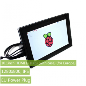 "Ekran 10.1 inča (B), HDMI, za Raspberry Pi (LCD displej 10.1""), 1200×800, osetljiv na dodir, sa kućištem"