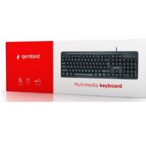 Standardna tastatura US raspored, crna, USB, multimedijalna, KB-UM-106