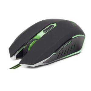 Gejmerski miš optički zeleno osvetljenje 400-2400 dpi
