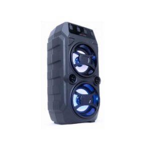 Bluetooth zvučnik 2x5W, crni, karaoke, LED svetlo
