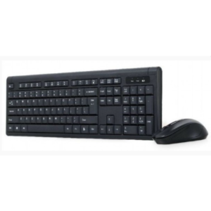 Slim Bežični miš + tastatura 2.4 GHz, US layout crna, KBS-WM-03