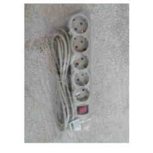 Produžni kabl 5r/3m sa prekidacem (sivi)