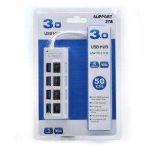 USB 3.0, 4-port HUB, beli