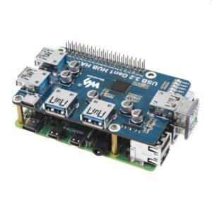 Raspberry Pi USB 3.2 HUB HAT (bez drajvera)