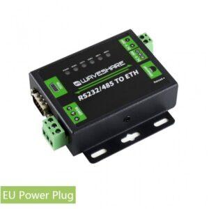 RS232/RS485 na ethernet, industrijski konverter za EU