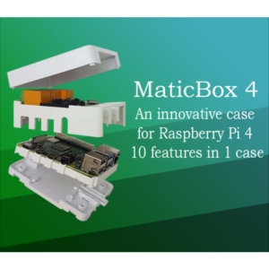 MaticBox 4 Kućište Za Raspberry Pi 4, crno, belo