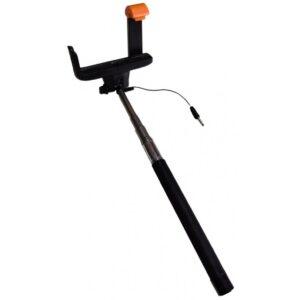 Selfie stick za smartphone, žičani, 3,5mm, crni