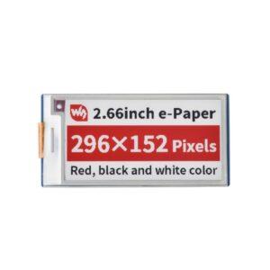 2.66inch E-Paper E-Ink Modul (B) za Raspberry Pi Pico, 296×152, crveno-crni, SPI