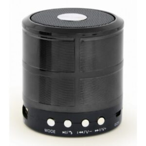 Prenosivi Bluetooth zvučnik + handsfree 3W, FM, microSD, AUX, crni