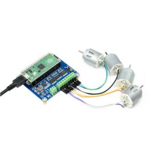DC Motor Driver Modul za Raspberry Pi Pico, 4 x DC Motora
